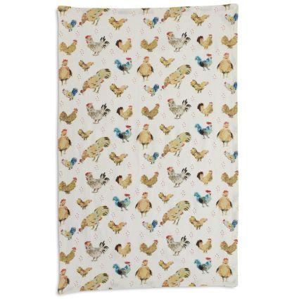 Jacques Pépin Collection Assorted Chickens Kitchen Towel | Sur La Table