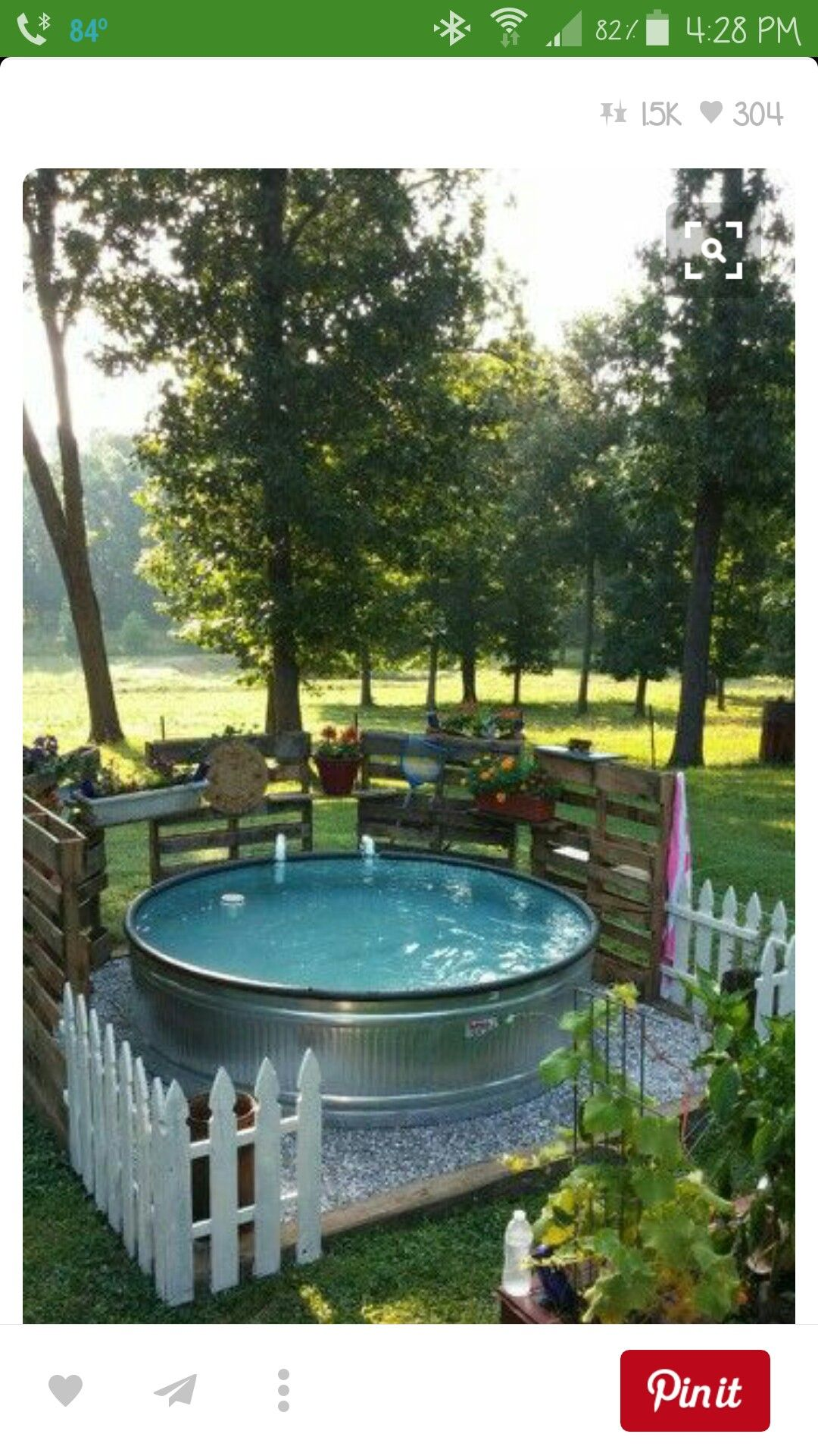 Pin by cindy on farmstyle stock tank pool back garden - Backyard pool ideas on a budget ...