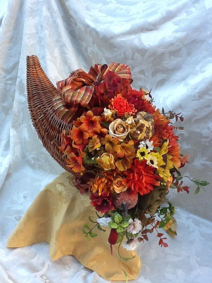 Thanksgiving Cornucopia Thanksgiving floral arrangements