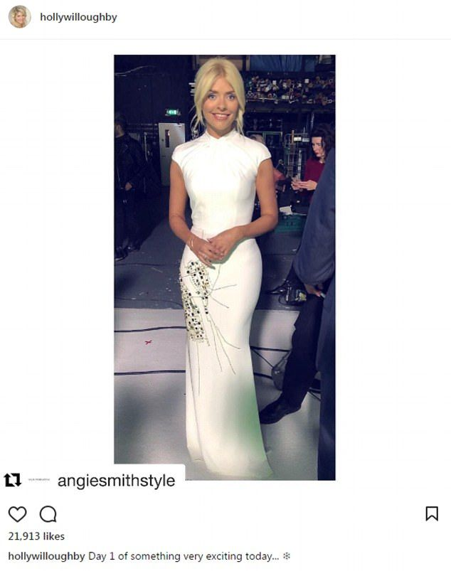 Holly Willoughby Stuns In A White Dress Flaunting Her Hourgl Figure