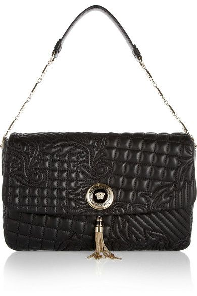 5348b7a5e4a5 Shop for Vanitas embroidered leather shoulder bag by Versace at ShopStyle.
