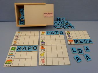 Lectoescritura Juguetes Didácticos Material Didáctico Jardin De Infantes Nivel Inicial Juegos Juguetes Bingo De Letras Material Educativo Lectoescritura