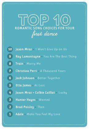 Popular Wedding First Dance Songs