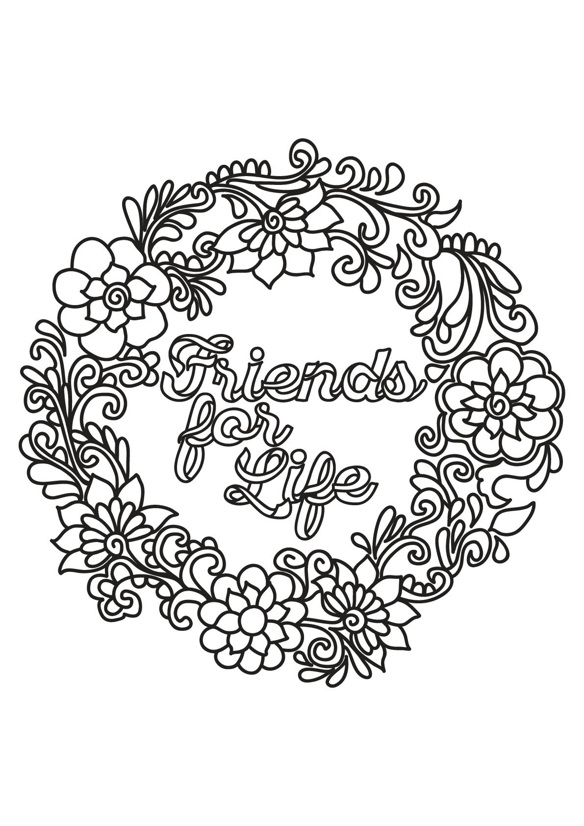 Friends For Life From The Gallery Quotes Quote Coloring Pages Unicorn Coloring Pages Love Coloring Pages