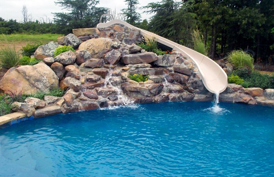 Swimming Pool Rock Slides Photos Blue Haven Pools Pool Water Features Pool Blue Haven Pools