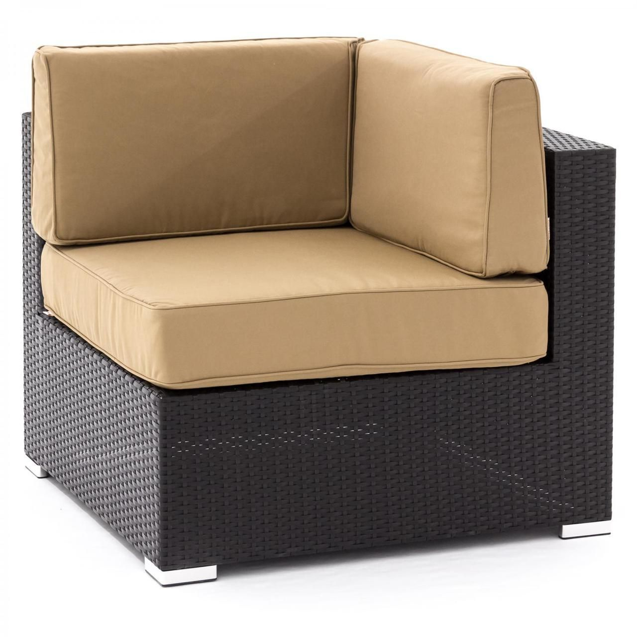 Pelican Point Resin Wicker Patio Corner Chair Sectional Piece - Beach Expression