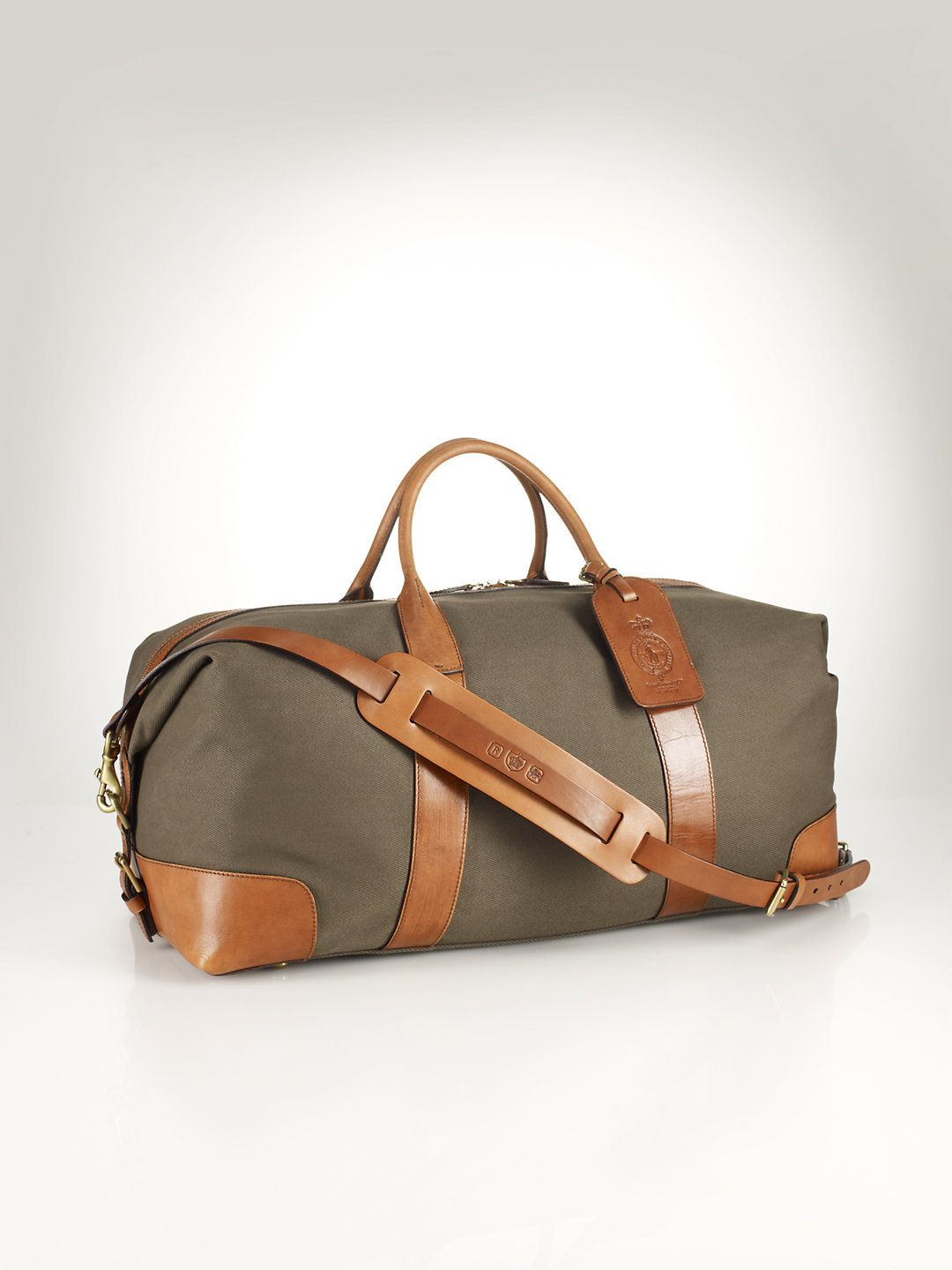 eebd11281da1 Canvas Leather Weekend Bag - Travel Bags Bags Business Accessories -  RalphLauren.com
