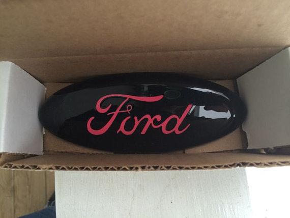 custom ford emblem black with pink logo by. Black Bedroom Furniture Sets. Home Design Ideas