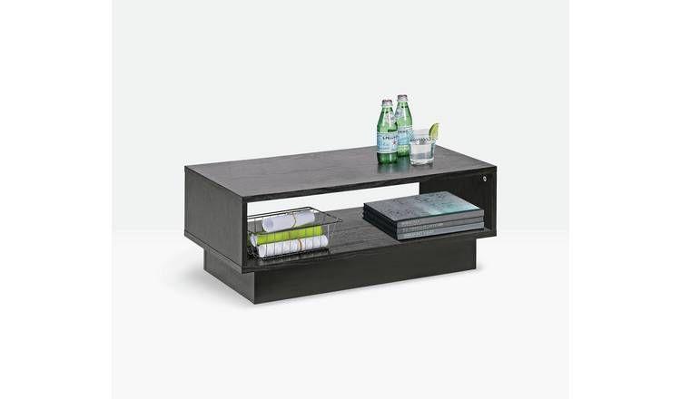 Buy Argos Home Cubes 1 Shelf Coffee Table Black Ash Effect