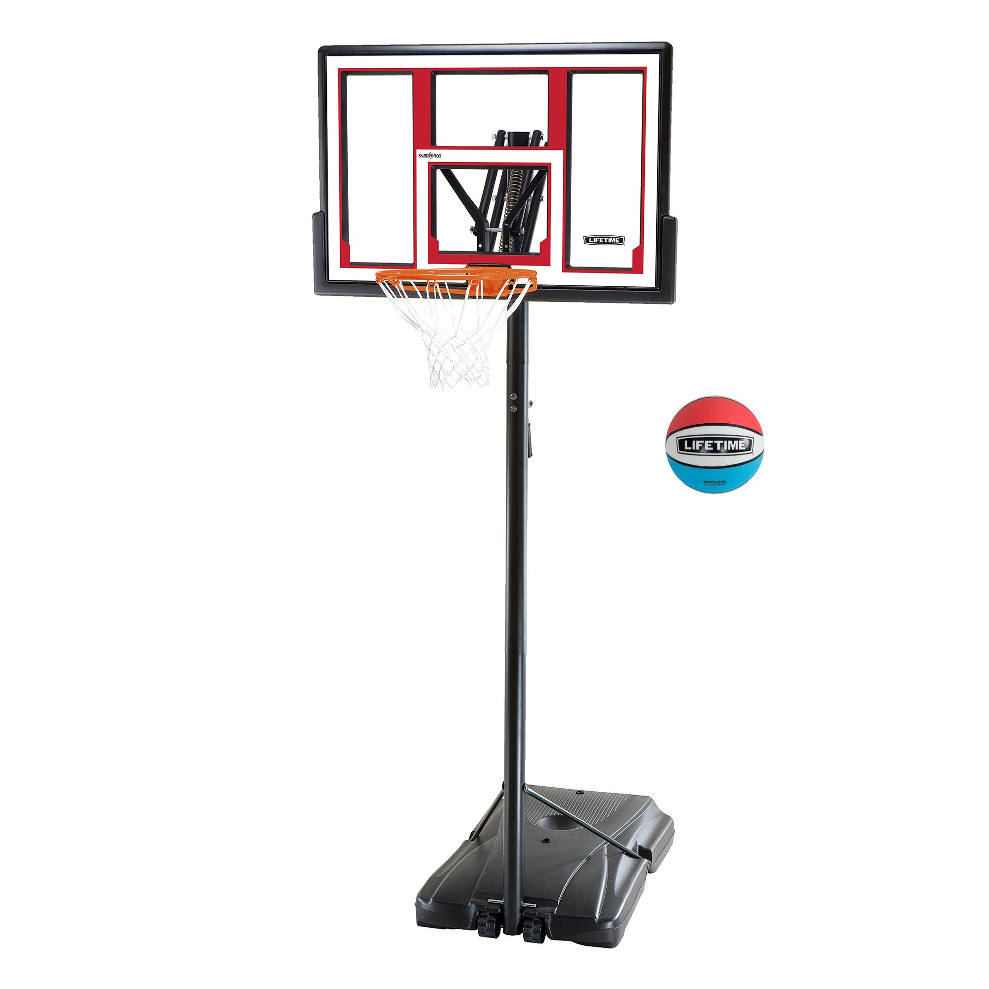Lifetime 48 Adjustable Portable Basketball Hoop 90491 Walmart Com Portable Basketball Hoop Basketball Hoop Adjustable Basketball Hoop