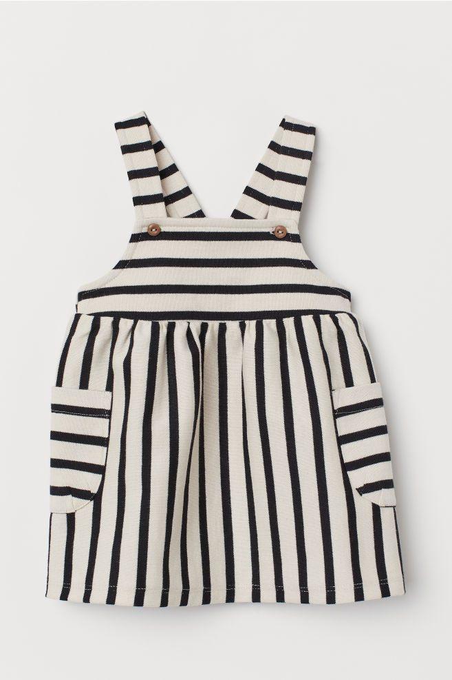 Latzkleid - Beige/Gestreift - KINDER   H&M CH #babydresses