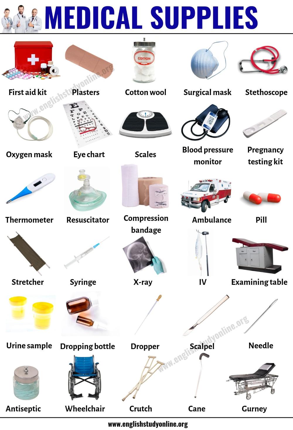 Sour Medical Supplies Home Medicalstudents Medicalsupplieschildren In 2020 English Study Medical Supplies English Vocabulary