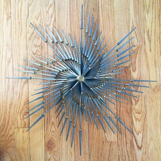 Brutalist Pinwheel Burst Wall Art