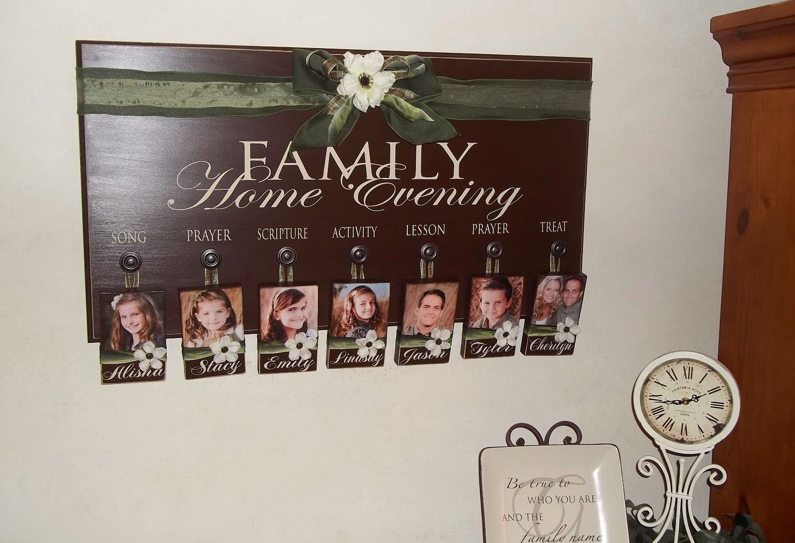 Cher's Signs by Design: Family Home Evening Board