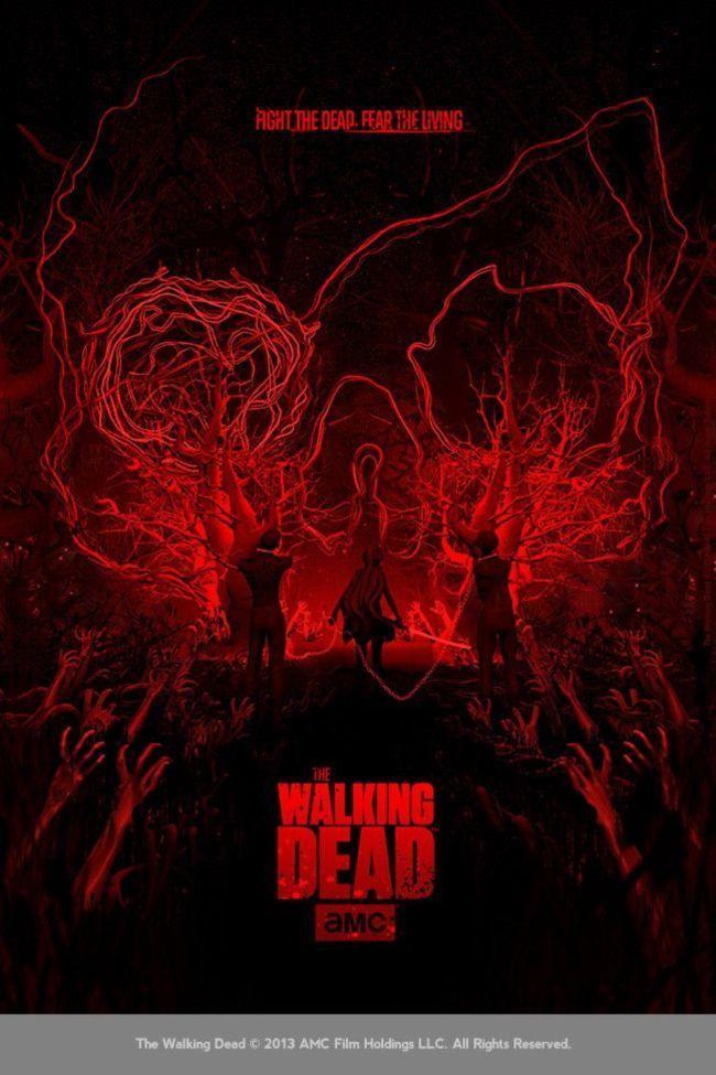 Grossartiges Poster zur Kultserie The Walking Dead von Ben Thomas und leider schon ausverkauft