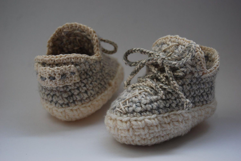 Crochet baby shoes,crochet  Boost West 350 crochet yeezy 350,