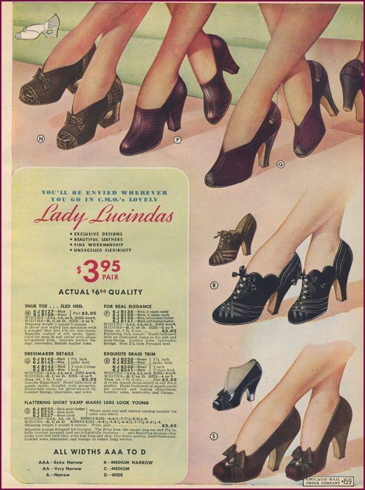 Catalog Sunday Forties Fashion Fur Coat Vintage Historical Shoes