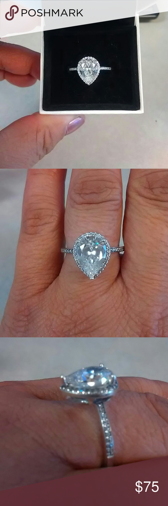 Authentic brand new Pandora Radiant Teardrop Ring Size 8 ...