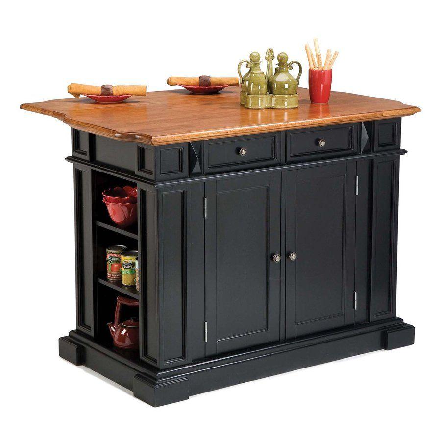 shop home styles 48 in l x 25 in w x 36 in    black kitchen islandkitchen     shop home styles 48 in l x 25 in w x 36 in h black kitchen island      rh   pinterest com