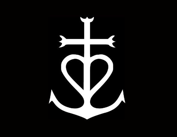 Heart Love White Vinyl Car Decal New Gift Faith Cross Hope