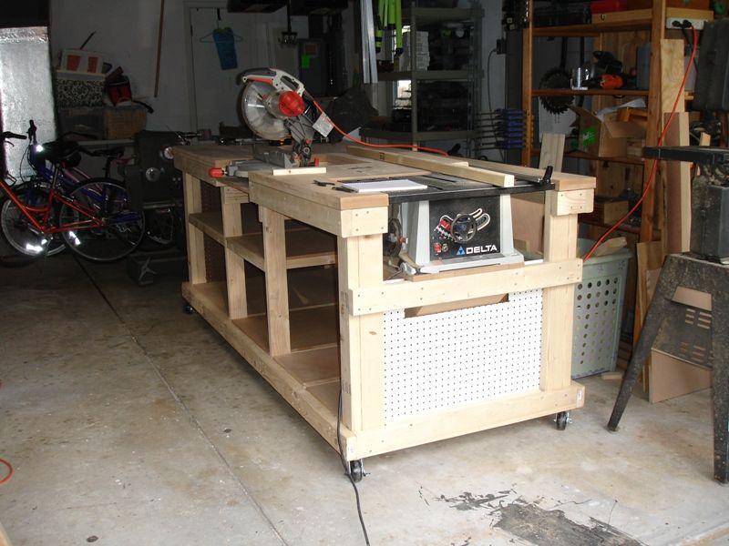 Ultimate Workbench Workshop Diy Workbench Table Saw