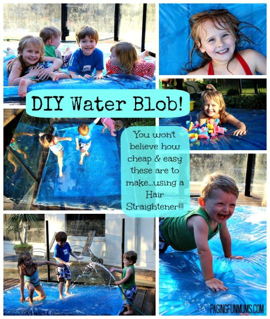 DIY Water Blob - A Giant Sensory Water Bubble! An easy to follow tutorial - who would have thought you could make that using a Hair Straightener!!