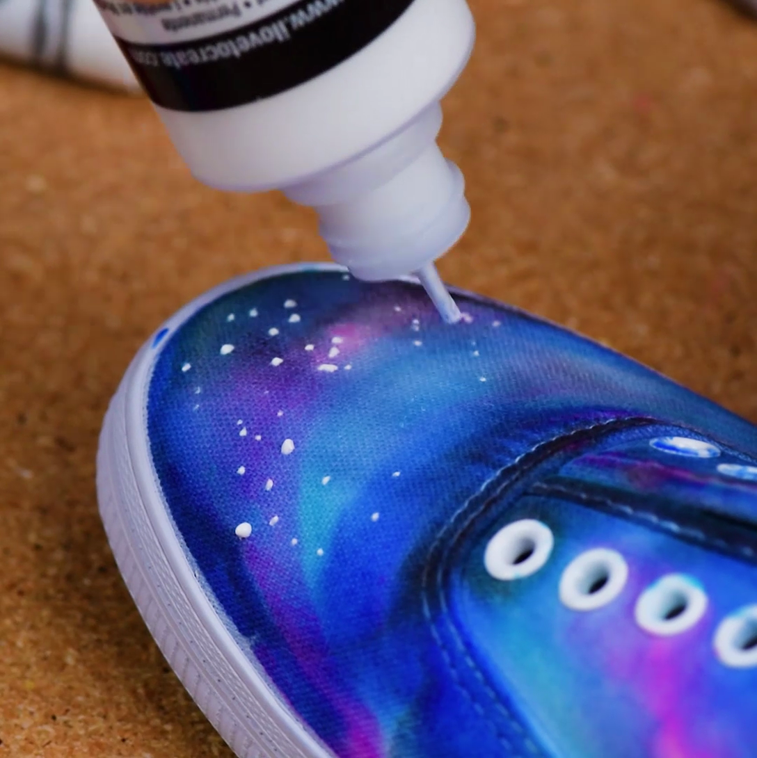 Jump into space with this DIY Galaxy shoes! - 2017 VBS Galactic ...