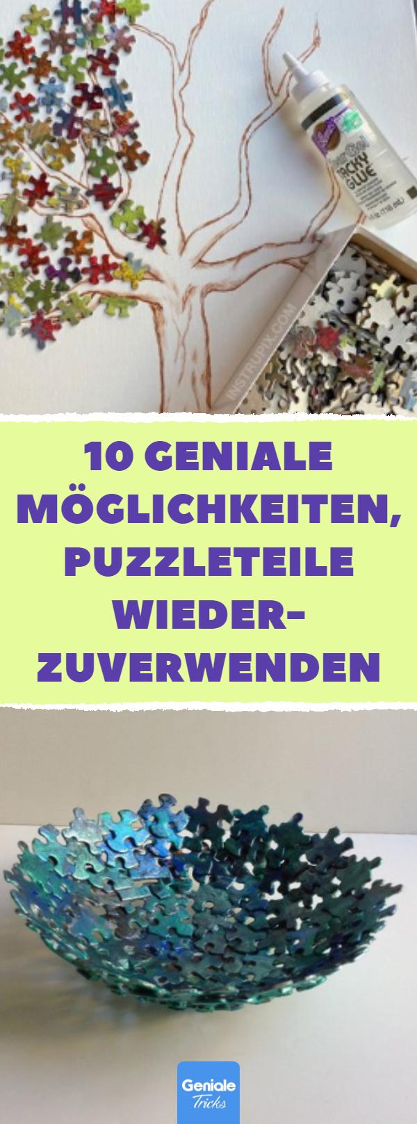 10 geniale Möglichkeiten, Puzzleteile wiederzuverwenden