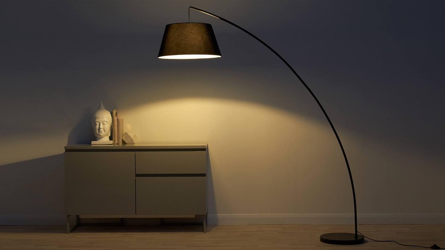 Rey Black Marble Arc Floor Lamp Floor Lamp Overarching Floor