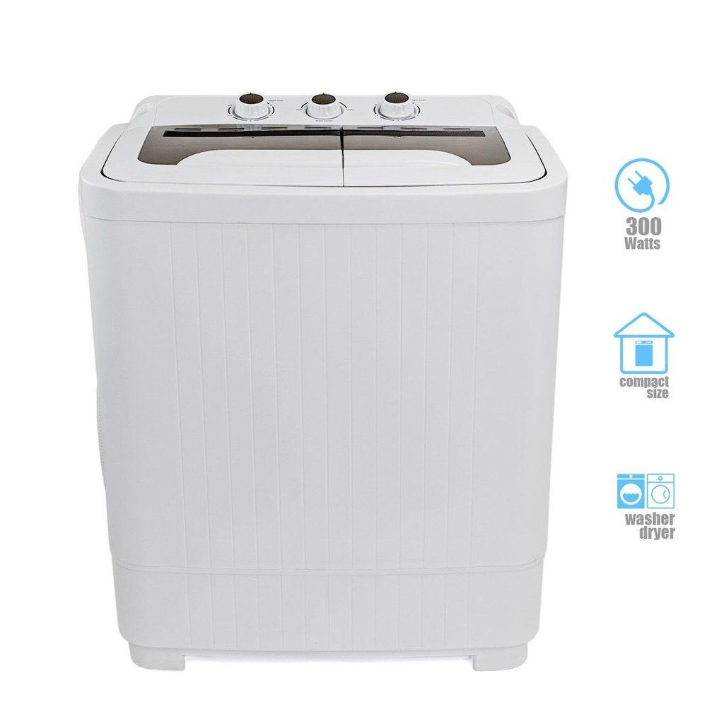 Portable Compact Washer And Spin Dry Cycle With Built In
