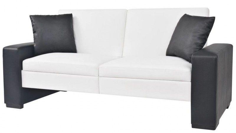 Canape Lit Reglable Avec Accoudoirs Noir Et Blanc Toast Lestendances Fr Canape Lit Dimension Canape Canape Lit 2 Places