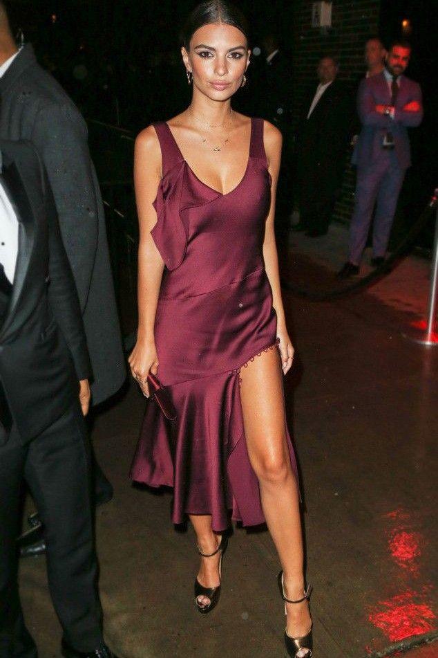 3abdb1e99d8 Emily Ratajkowski 2016 Met Gala After Party Dress Burgundy Cocktail Dresses  TCD7403 - TheCelebrityDresses  Cocktaildresses