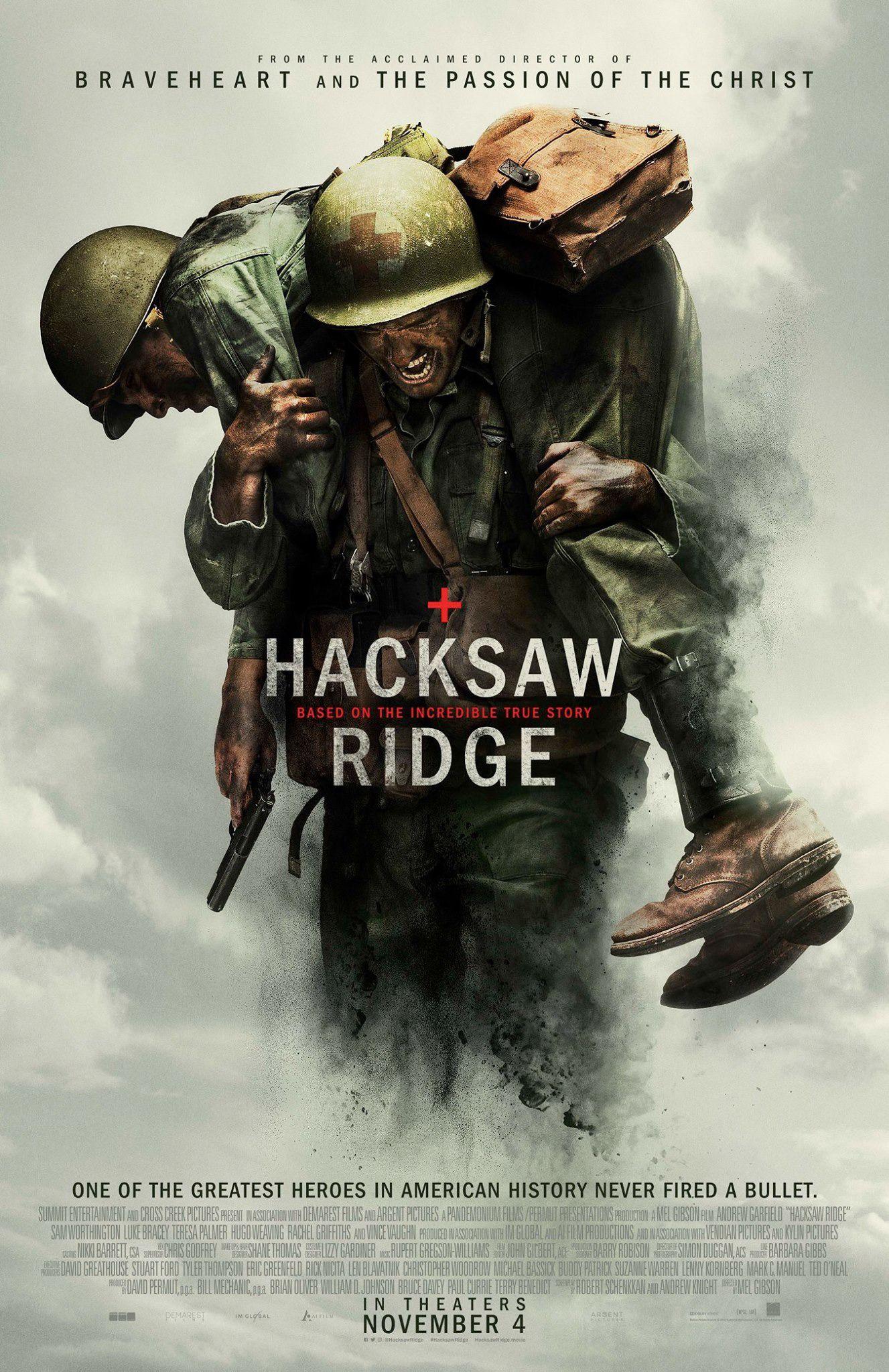 Poster of Hacksaw Ridge Hacksaw ridge movie, Free movies