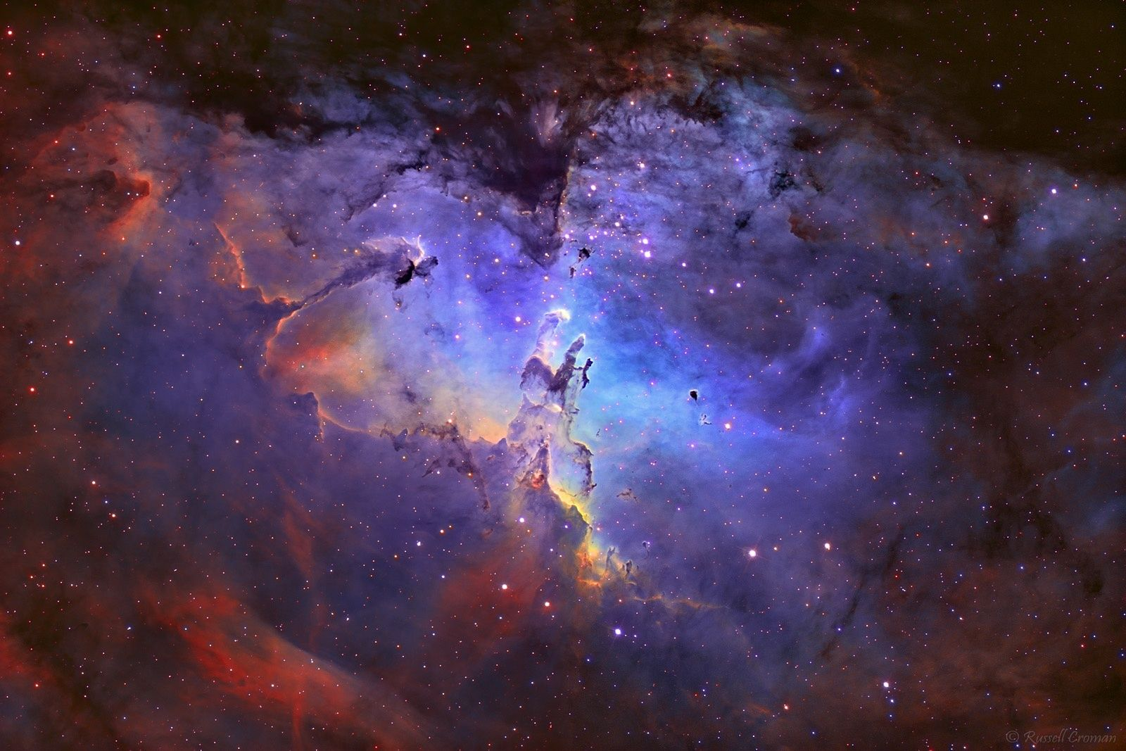 Eagle nebula s pillars of creation distance 7000 light - Pillars of creation wallpaper ...