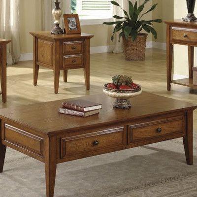 Best Riverside Furniture Oak Ridge Coffee Table Set Wayfair 640 x 480