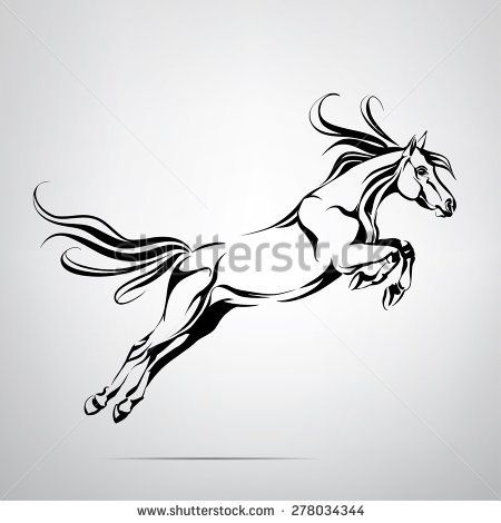 stampede of horses coloring pages - photo#16