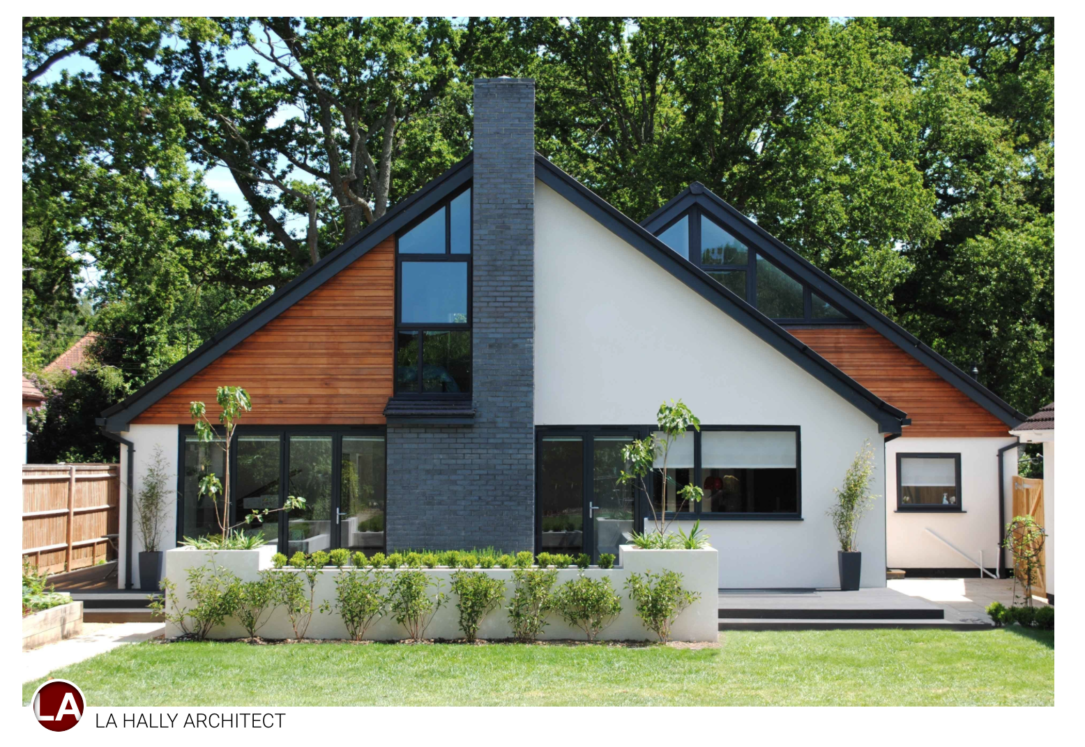 Contemporary Chalet Bungalow Conversion By La Hally: How To Enhance Exterior Of A 1980s Ranch