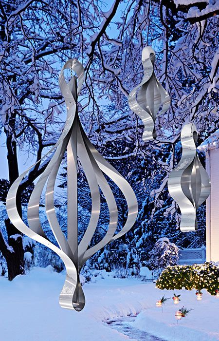 Outdoor Hanging Metal Ornament Outside christmas