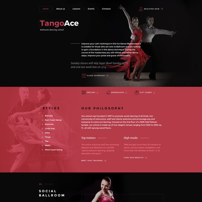 Dance studio bootstrap website template small screenshot website dance studio bootstrap website template small screenshot maxwellsz