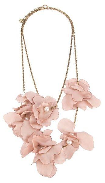 Lanvin Silk Flower Necklace In Pink Modern Romance Flower