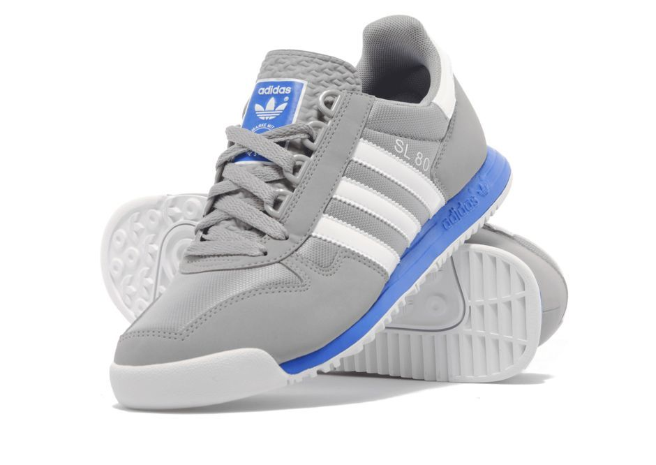 huge selection of 0951b 931f5 ... Adidas Originals SL 80 light grey white blue ...