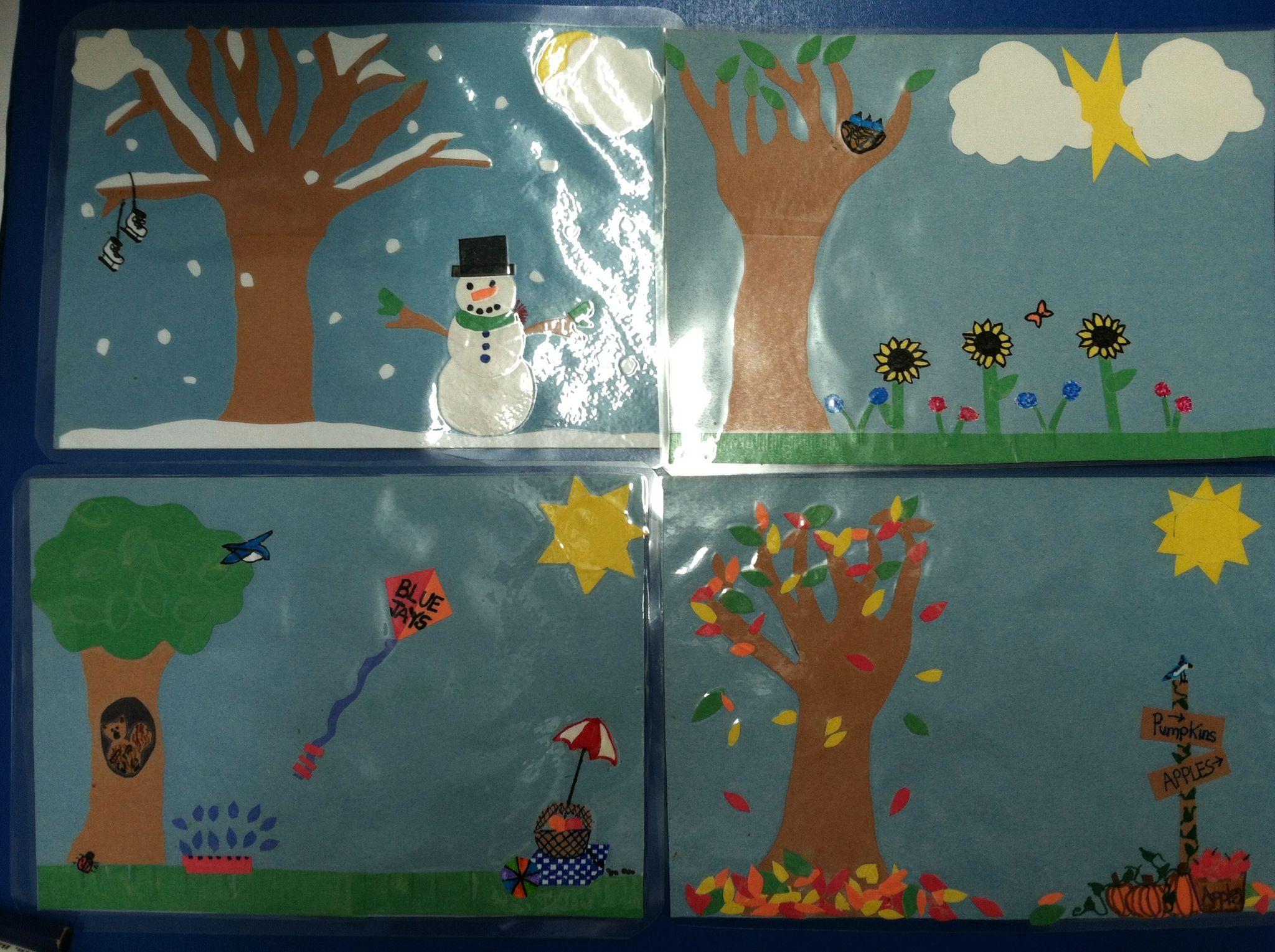 Seasons Chart For Preschool Classroom
