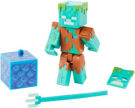 Minecraft Comic Maker Drowned Action Figure Minecraft