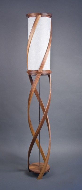 The Tango Floor Lamp Bent Laminated Walnut & White by Castlewerks ...