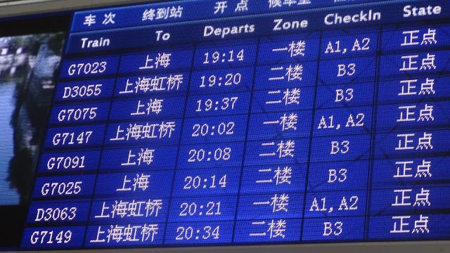 Trenes en China