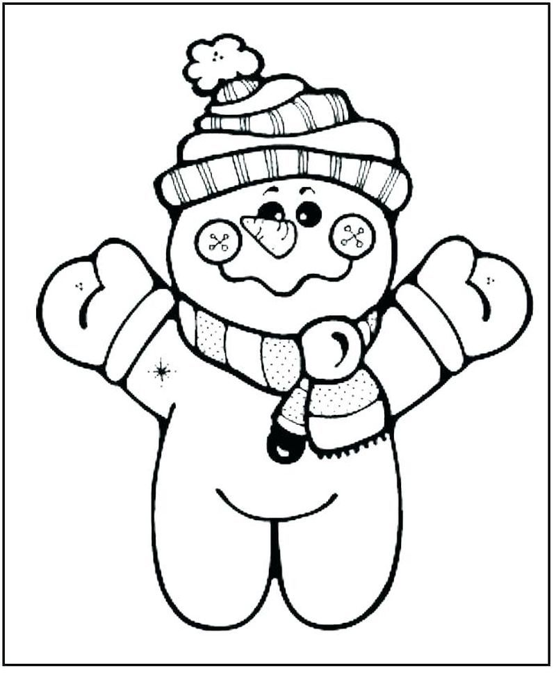 Free Coloring Pages Of Snowman Printable di 2020