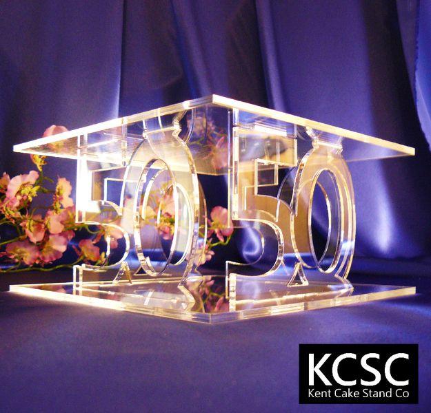 50th Birthday Cake Stand / 50th Golden Wedding Anniversary Cake ...