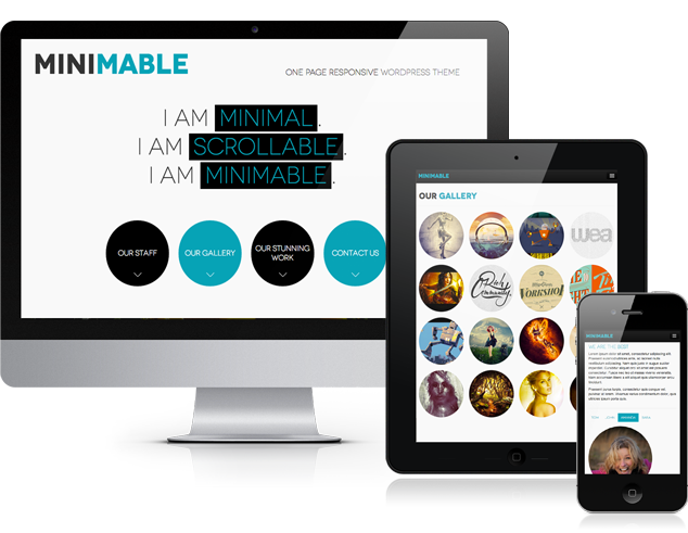 Minimable - Free Responsive Wordpress Theme - really cool one-page ...