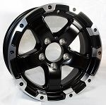 15x6 Black Series 6 Aluminum Trailer Wheel 6 on 5.50 2830 lb Capacity
