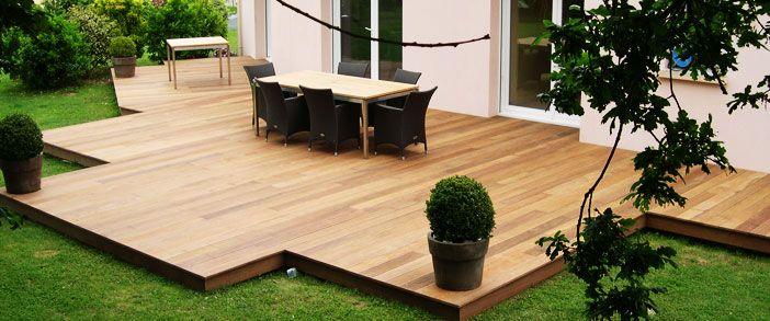 construire-terrasse-bois-soit-meme paysagement Pinterest - construire sa terrasse en bois soimeme